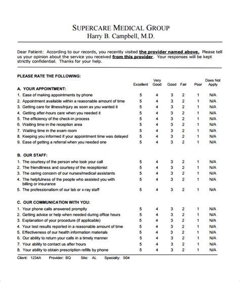 sample feedback survey template   documents