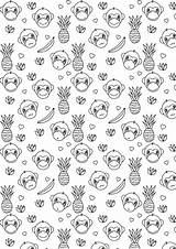 Coloring Monkey Printable Paper Printables Sheets Meinlilapark Freebie Ausdruckbares Adult Stickers Colouring A4 Template Colors Downloads sketch template