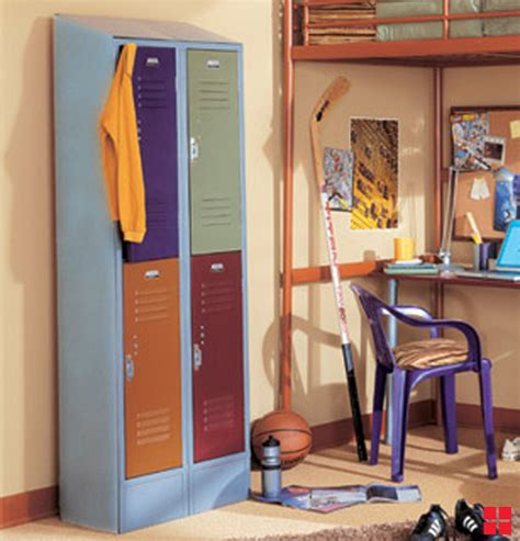 colorful combo lockers