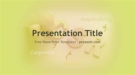 corporate social responsibility csr powerpoint template
