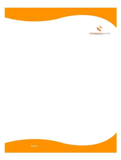 free letterhead templates 46 free letterhead templates exles free template downloads