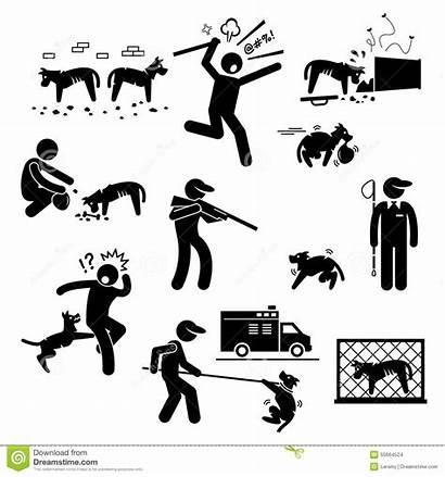 Stray Clipart Animals Dog Problem Pictogram Human