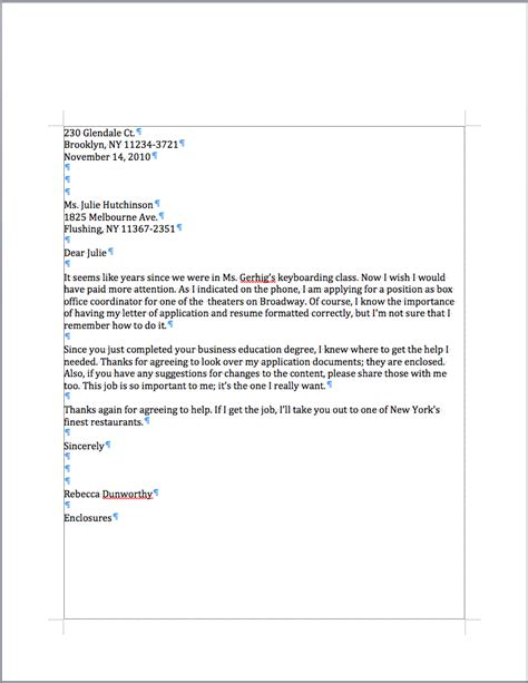 business letter closing mrs marshall s personal business letter exle 20736