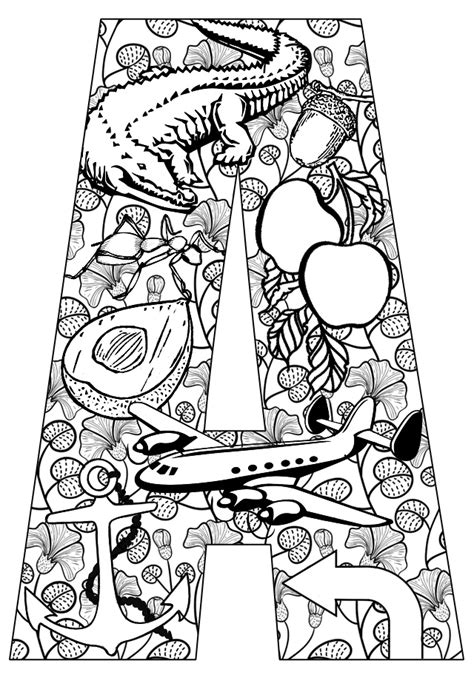 a color that starts with a things that start with a free printable coloring pages