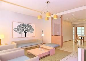 Living room ceiling design pink