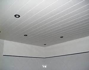 poser du lambris pvc au plafond With charming peindre un plafond avec des poutres 13 chambre lambris bois