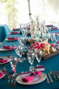 Turquoise And Pink Wedding Decoration Purple Teal And