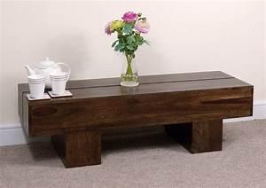 rustic dark wood coffee table With dark brown rustic coffee table