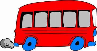 Bus Cartoon Clipart Buses Clip Cliparts Minibus