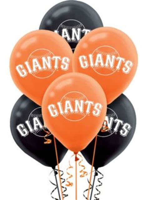 san francisco giants balloons ct party city