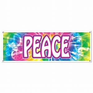 Groovy Retro 60s Party Decoration HIPPIE Tie Dye PEACE