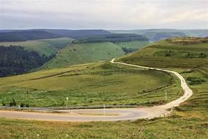 Green, Mountain, Range, Landscape, In, Summer, Stock, Photo