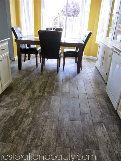 faux wood tile flooring   kitchen  floor faux