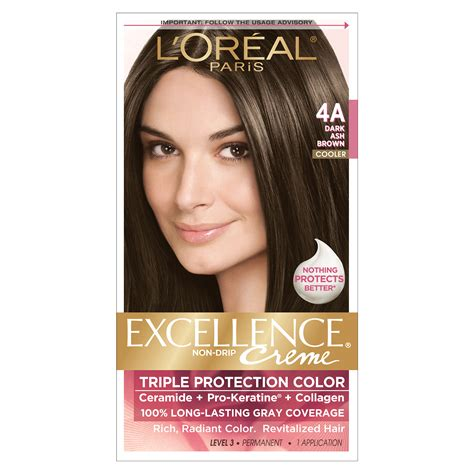 Professional Brown Hair Dye by L Oreal 4a Cooler Ash Brown Hair Color