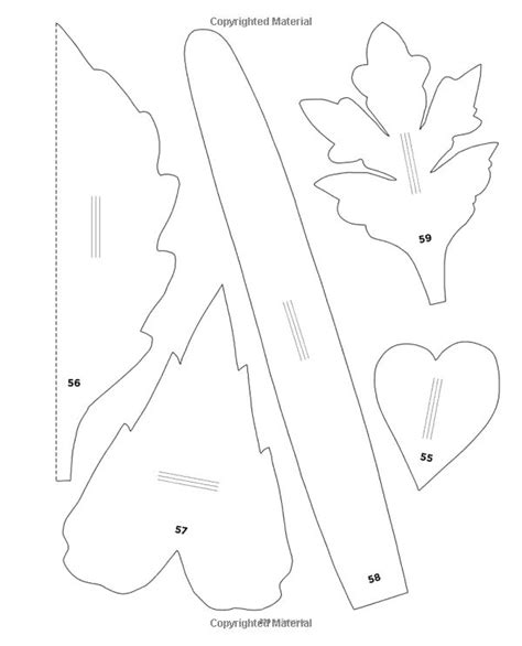 martha stewart leaf template 76 best frunze images on leaves papercraft and templates