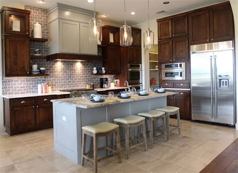 Kitchen Cabinets With Different Color Island  Home Design