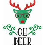 Reindeer Deer Drawing Icon Rudolph Antler Tailed