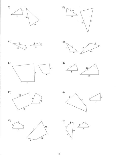 7 Best Images Of Similar Triangles Worksheet  Similar Triangles And Polygons Worksheet, Right