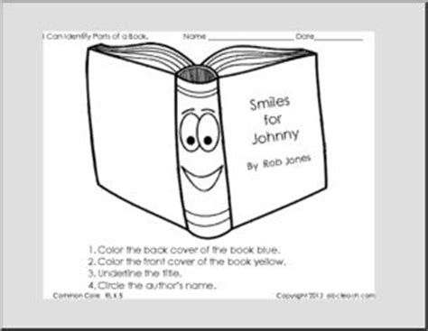 label the parts of a book reading exles