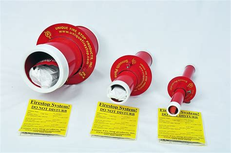 smooth firestop sleeve system  cable penetrations