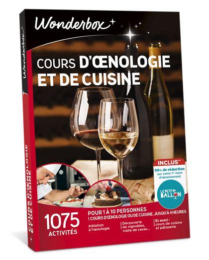 wonderbox cuisine cours d 39 oenologie et cuisine coffret cadeau wonderbox