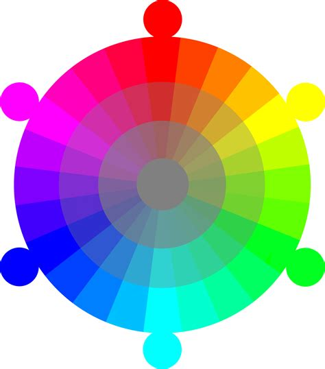 color wheel rgb rgb color model clipart clipground