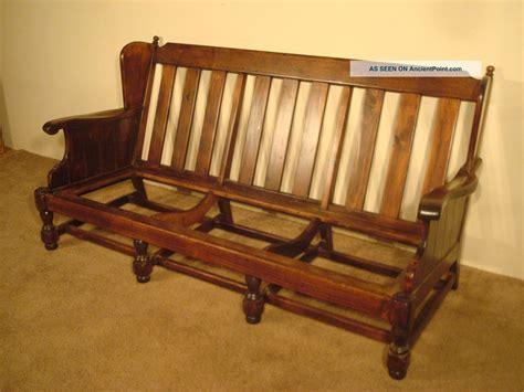 ethan allen wood frame sofa ethan allen old tavern antiqued pine sofa post 1950 photo