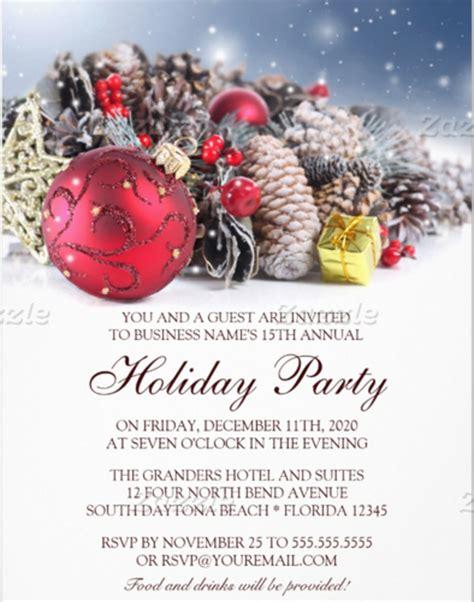 free holiday party invitation templates 23 business invitation templates free sle exle format downlaod free premium templates