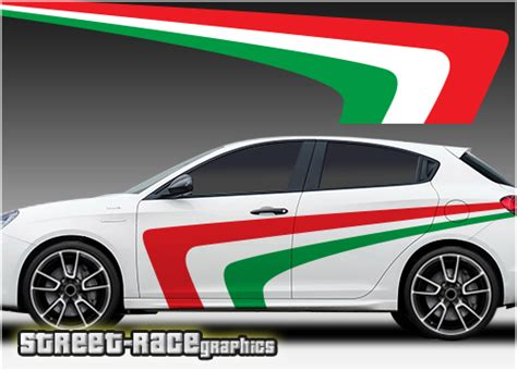 Alfa Romeo Giulietta Racing Stripes 013  Italian Flag