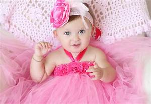 Gorgeous Beautiful Hot Pink Flower Tutu Dress for Baby Girl