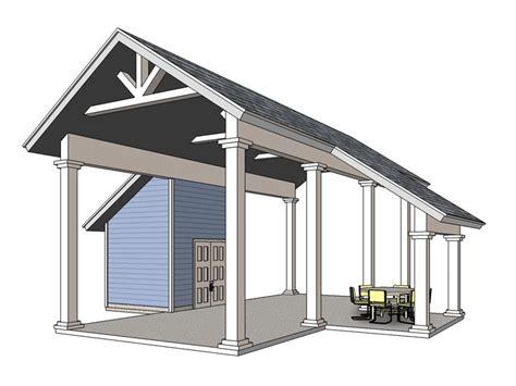 Motorhome Carport Plans carport plans rv carport plan with storage closet 006g