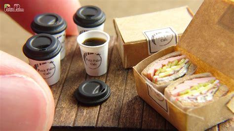 miniature coffee sandwich diy petit palm miniature