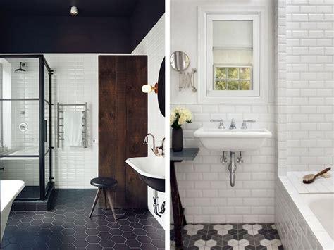 salles de bains avec du carrelage metro joli place