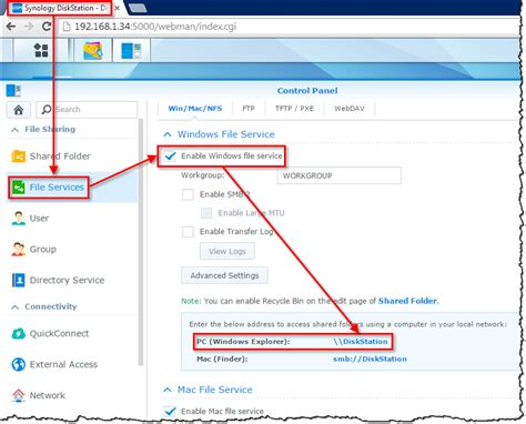networking how do i set up a synology nas so it can be accessed by url name instead of by ip