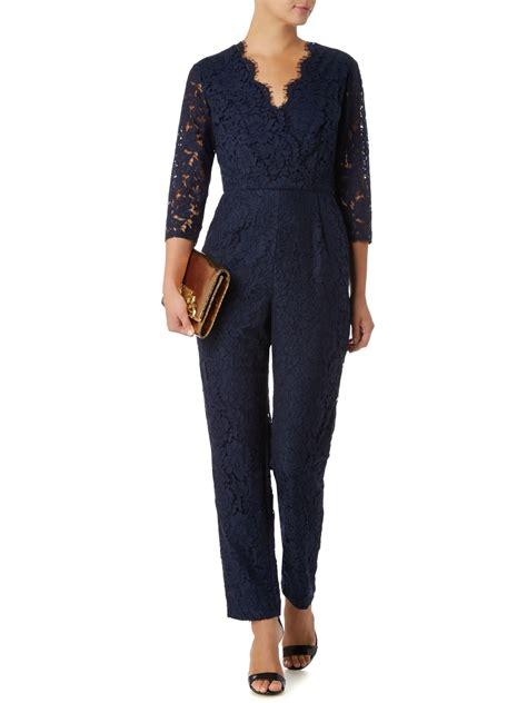 navy jumpsuit navy blue lace jumpsuit clothing