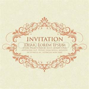 invitation or wedding card with damask background and With elegant floral wedding invitations vector