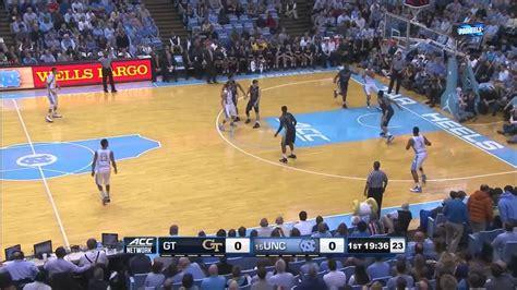 unc mens basketball  corners offense  georgia