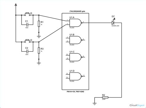 Circuit Diagram And Explanation by Nand Gate Circuit Diagram And Working Explanation