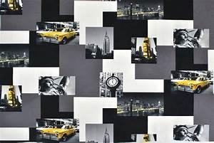 Tissu New York : tissu microfibre new york taxi ~ Dode.kayakingforconservation.com Idées de Décoration