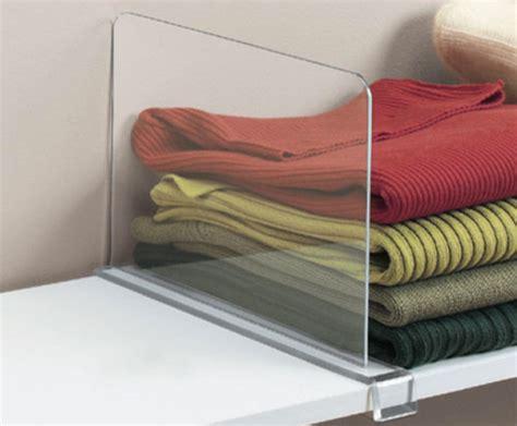 acrylic shelf divider contemporary closet organizers