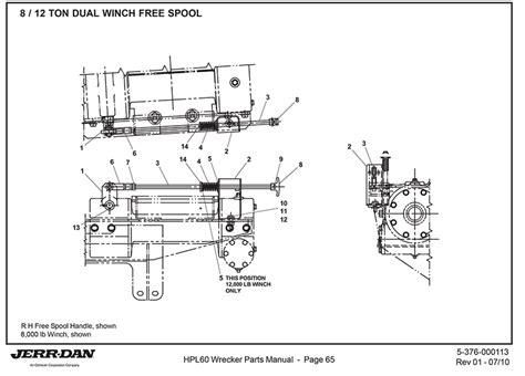 jerr   ton dual winch  spool detroit wrecker