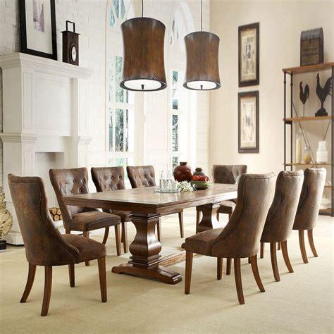 Homesullivan Regina 9piece Weathered Oak Dining Set
