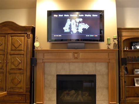 above tv new ideas fireplace mantels with tv above with gas