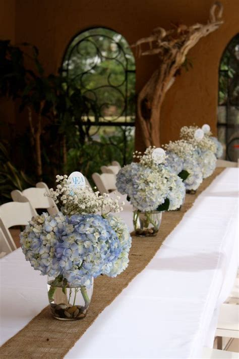 blue christening decorations table set ip boy baptism ideas baptism centerpieces
