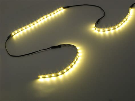 flexible led strip light cable assembly in warm white