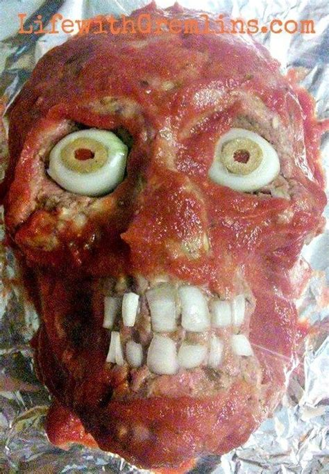 Halloween Party  Ee  Ideas Ee   Meatloaf Head Recipe Life With