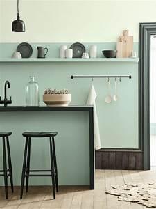 cuisine verte 3 nuances de la plus claire a la plus With idee deco cuisine avec matelas d eau