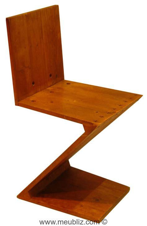 chaise zig zag chaise quot zig zag quot inspiration de stijl par gerrit