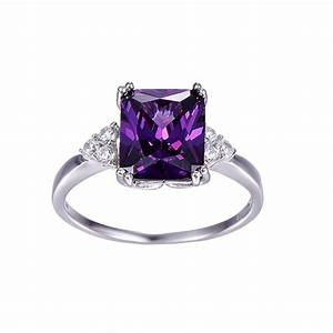 Vintage Jewelry 5.25ct Amethyst Ring 925 Sterling Silver ...