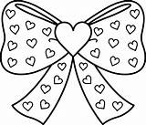 Ribbon Heart Drawing Ribbons Coloring Getdrawings Pages sketch template